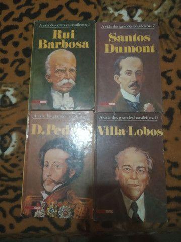 Livros coleção A vida dos grandes brasileiros