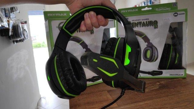 Headset Gigante! Acende com Leds! Conexão 100% Via USB! - Foto 3