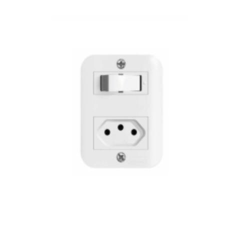 Interruptor sobrepor 1 interruptor + 1 romada Romazi linha Jeri Novo
