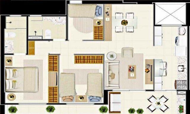Apartamento com 3 dormitórios à venda, 112 m² por R$ 753.000,00 - Guararapes - Fortaleza/C - Foto 13