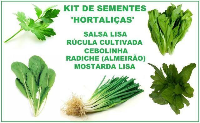 Kit De Sementes - Hortaliças (5 Variedades)