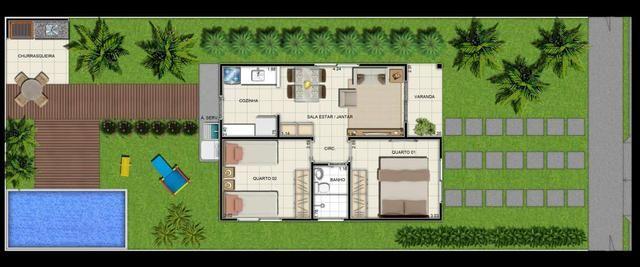 //Casas em Condomínio fechado com 2 qrts e terreno medindo 160 m2 - Foto 18