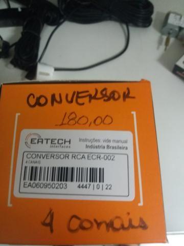 Conversor rca 4 canais novo na embalagem garantia instalado