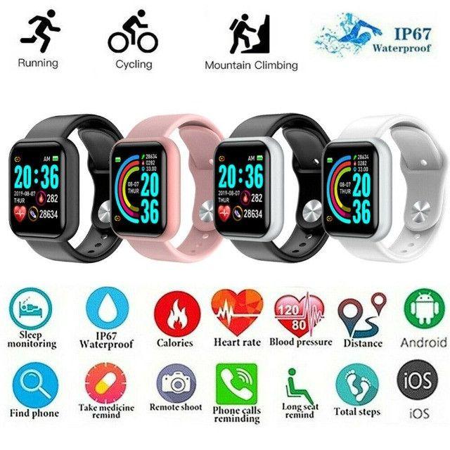 Relogio Inteligente Smartwatch D20 Bluetooth Preto - Foto 4