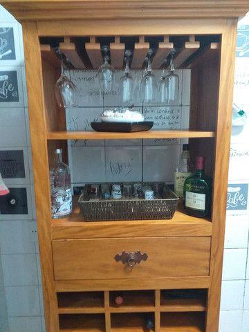 Bar Adega de Madeira Maciça  - Foto 4