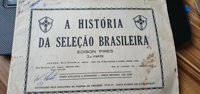 Fascículos A História Da Seleção Brasileira - Edição De 1971 - Foto 3