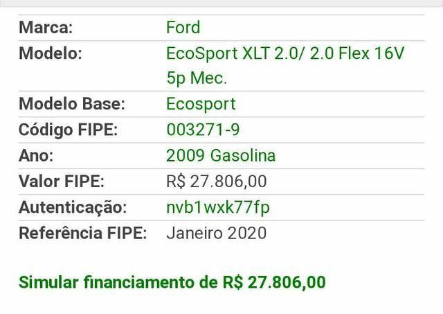 Ford Ecosport XLT 09/09 2.0 Flex (Aceito Trocas) - Foto 3