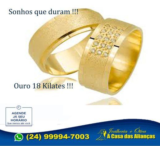 Par de alianças com ouro 18k e prata 10 Gramas - 8 mm - Foto 3