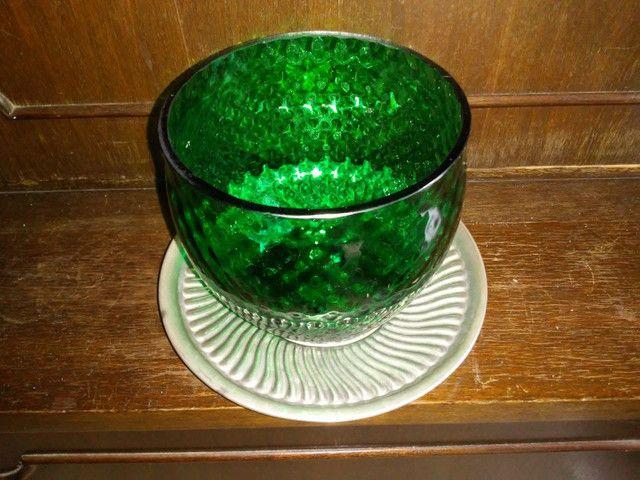 Bomboniere de vidro e prato com banho de prata da década de 70 - Foto 4
