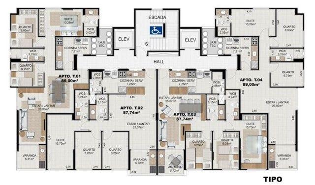 Em Construção! Apartamento 89m², 03 Quartos na Jatiúca. Entrega para Fevereiro/2023 - Foto 13