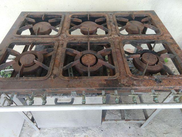 Fogão industrial 6 bocas com forno  - Foto 3