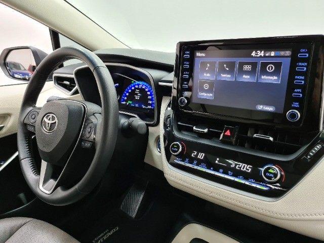 corolla altis premium hybrid 1.8 flex 2021 aceito troca - Foto 8