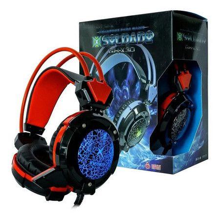 Headset Gamer com microfone luz led colorido