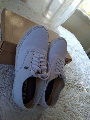 Tênis Polo Wear Branco/Branco - Foto 3