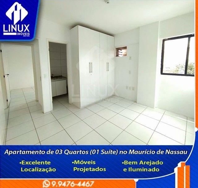 Alugo Apartamento de 3 Quartos (1 Suíte) com 88 m² no Maurício de Nassau em Caruaru/PE. - Foto 7