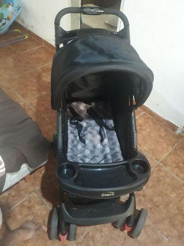 Bebê conforto, cadeira musical q vibra e toca e carrinho de bebê   - Foto 6