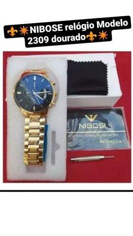 Relógio Nibose Dourado modelo luxo  - Foto 2