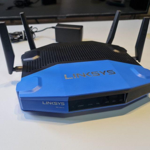 Roteador Linksys WRT 1900AC - 2.4 / 5 GHz Corporativo/Gamer exigente - Foto 5