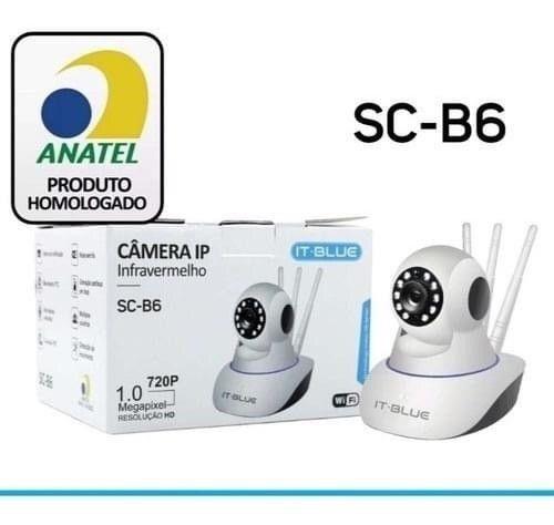 IT-BLUE CAMERA IP INFRAVERMELHO SC-B6 WIFI 1.0 720P MEGAPIXEL RESOLUÇÃO HD