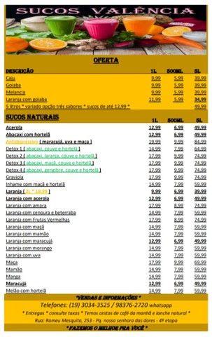 Sucos Valência - suco de laranja natural e vários outros sabores - Foto 4