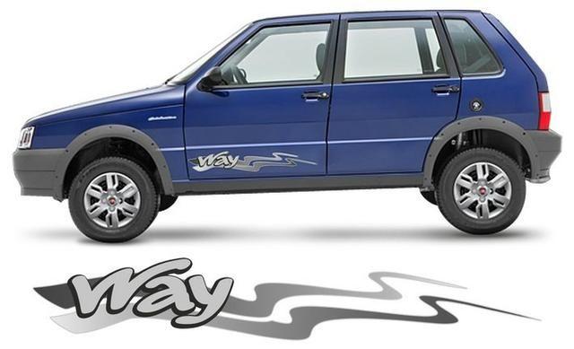 Kit Faixa Adesivos p/ Fiat Uno Way / modelo original 2013 em diante