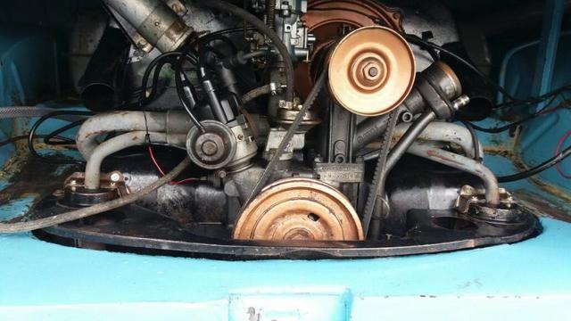 Kombi Corujinha 1964 azul, motor, suspenção, freios e elétrica nova - Foto 17