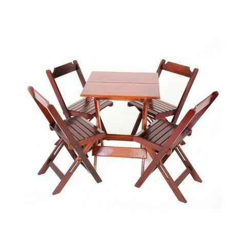 Conjuntos Dobráveis - Mesas 70 x 70 - com 2 ou 4 cadeiras - Foto 6