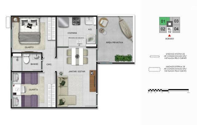 Apartamentos de 2 Quartos na região fo Portal do Sol em São josé dos Pinhais - Foto 8