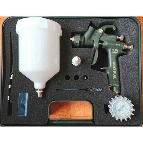 Pistola de pintura Walcom Slim Kombat HTE com maleta - HTE-803013 - Foto 4