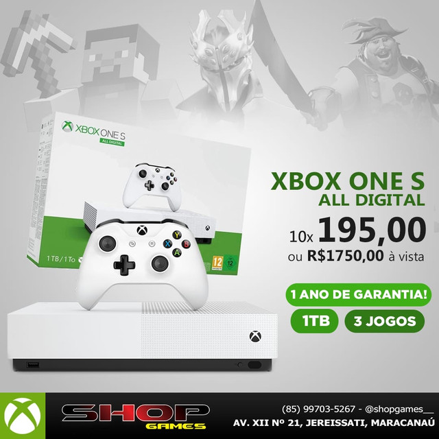 Xbox ONE S NOVO @shopgames_