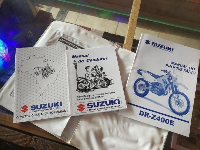 Suzuki DRZ 400e Trilha, Cross, Enduro. Top! - Foto 3