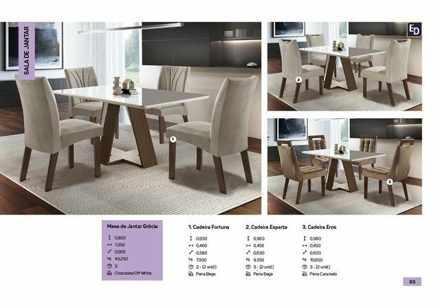 Mesa Grécia com 4 Cadeiras Fortuna 100% MDF