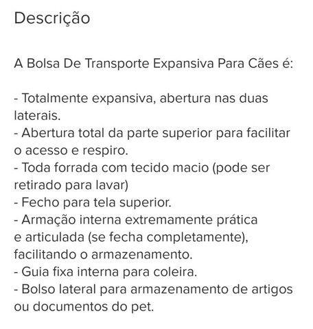 BOLSA DE TRANSPORTE EXPANSIVA PARA CÃES - Foto 6