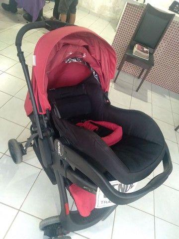 Carrinho terni com o bebê conforto  - Foto 3