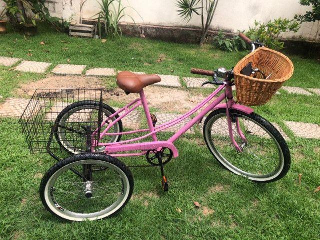 Bicicleta Triciclo Nova, Completa Rosa, Nunca usada