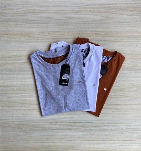 Camisas T-Shirt Básica Fio 30.1 Penteado - Foto 5