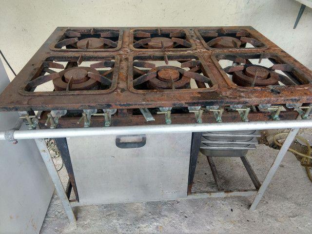 Fogão industrial 6 bocas com forno  - Foto 5