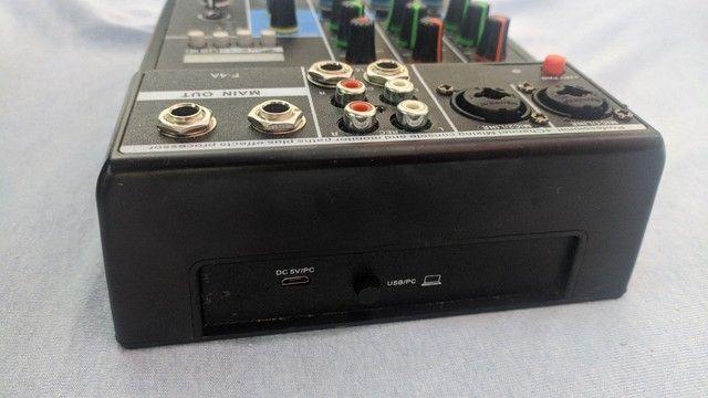 Mixing profissional console de 4 canas  - Foto 2