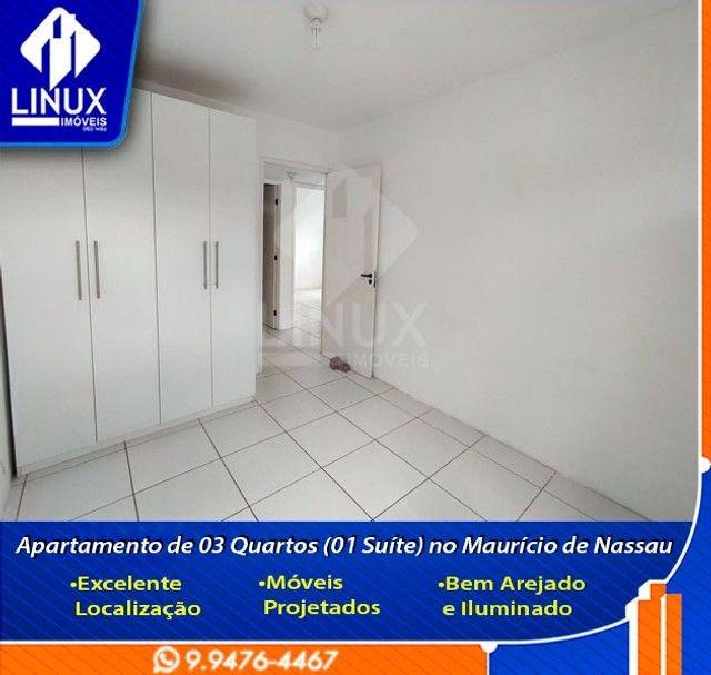 Alugo Apartamento de 3 Quartos (1 Suíte) com 88 m² no Maurício de Nassau em Caruaru/PE. - Foto 9