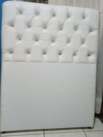 Vendo cabeceira para cama solteiro - Foto 6