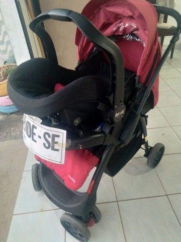 Carrinho terni com o bebê conforto  - Foto 5