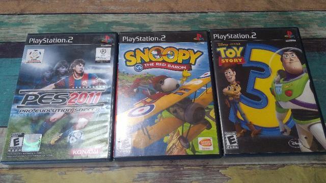 Jogos Originais - PS2, kit com 3 jogos