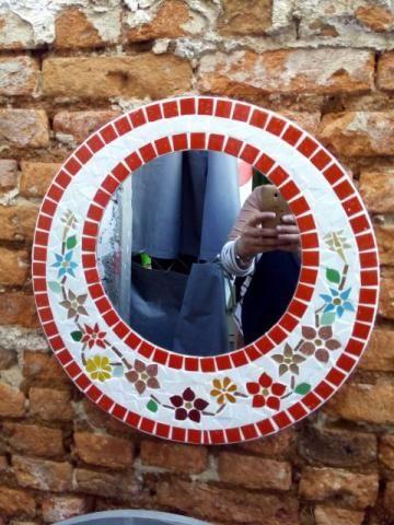 Moldura espelho Mosaico flores - Foto 3