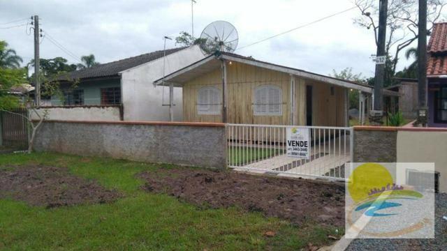Casa de madeira a venda em no Cambiju em Itapoá-SC CA0446 - Foto 3
