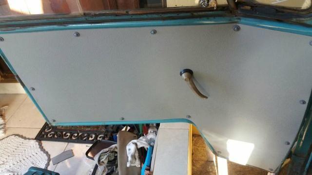 Kombi Corujinha 1964 azul, motor, suspenção, freios e elétrica nova - Foto 10