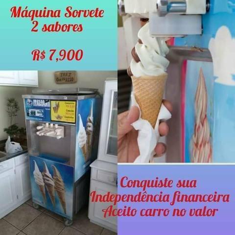 Vendo Máquina de sorvete expresso italianinha - Foto 3