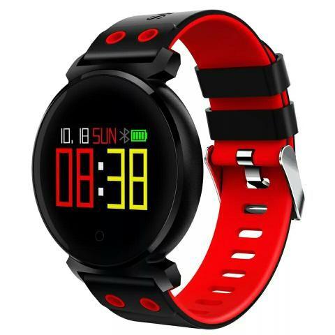 d3bfb254ebb Relógio inteligente com monitor de frequência cardíaca   pressão arterial e  oxigênio
