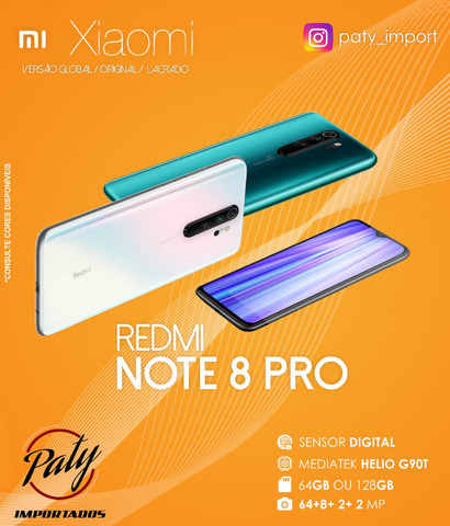 Xiaomi Redmi Note 8 PRO 128GB Pronta entrega Versão Global