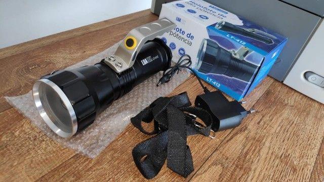 Lanterna Holofote Recarregável Super Forte - Foto 5