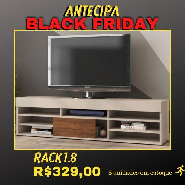 Rack 1.8 Bela Para TV Imbuia / White NOVO